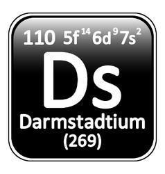 Periodic table element darmstadtium icon vector