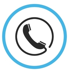 Phone Flat Rounded Icon vector