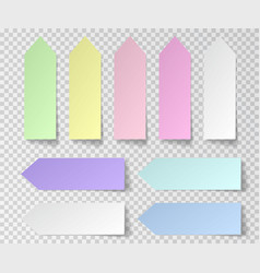 post sticky note isolated set of paper stickers vector image