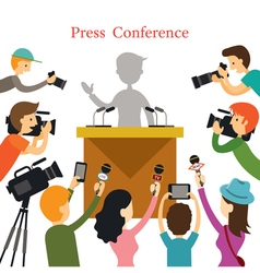 Press Conference Journalist Interview vector