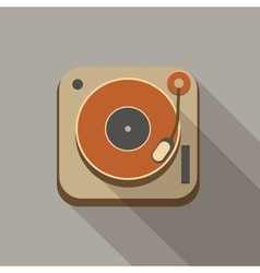 Retro record player icons vector image