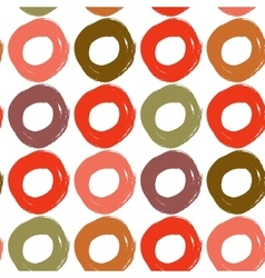 Round stroke seamless pattern Grunge background vector image
