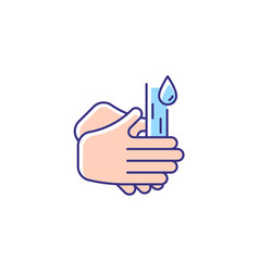 Rub palms together rgb color icon vector