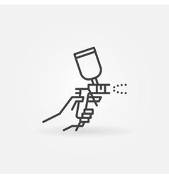 Spray gun in hand icon vector image