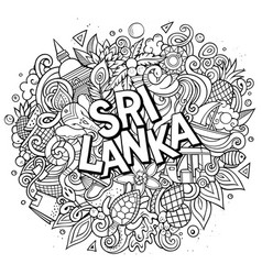 Sri lanka hand drawn cartoon doodles vector