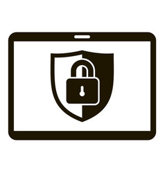 tablet lock security icon simple style vector image