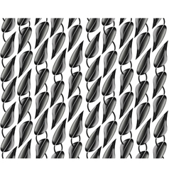 The pattern of black and gray metallic leaves vector image