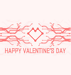 valentines day abstract technology vector image