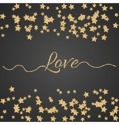 Valentines Day glitter shimmer card background vector