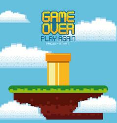 Videogame game over concept vector