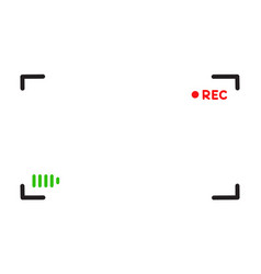 viewfinder template doodle style vector image