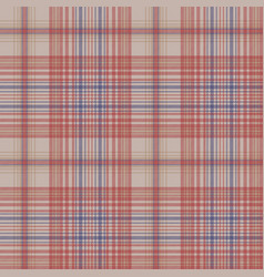 Vintage plaid fabric texture seamless pattern vector