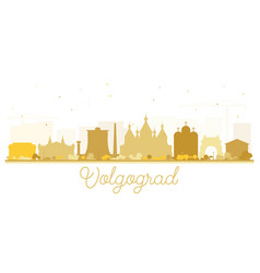 volgograd russia city skyline silhouette with vector image