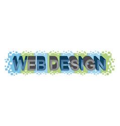Word web design vector