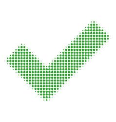 yes halftone icon vector image
