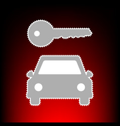 car key simplistic vector image