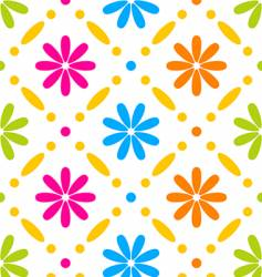 floral stitches vector image vector image