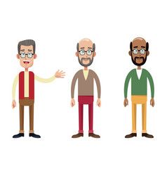 group male grandfather image vector image