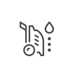 high pressure washer line icon vector image