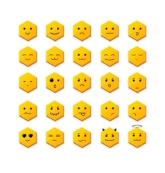Smile Icon Set with Different Face vector image
