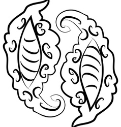 Abstract monochromatic ornament2 vector image