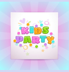 kids party square banner vector image