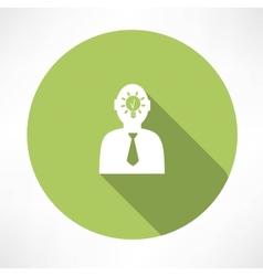 Man head with idea icon vector image vector image