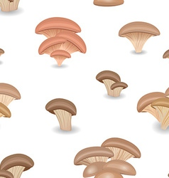 Seamless texture with Edible mushroom oysters vector image vector image