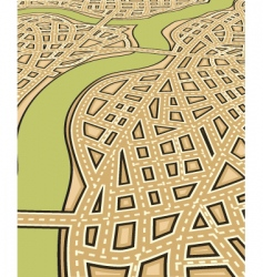 angled streets vector image