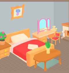 Furniture concept cartoon style vector
