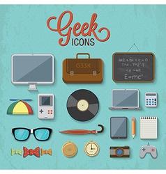 Geek accessories 2 vector image vector image