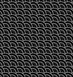 Geometric striped black seamless pattern with vector