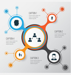 human icons set collection of network family vector image