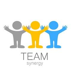 Team synergy logo vector