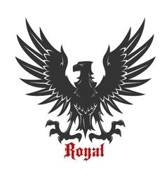 Black eagle attacking a prey heraldic icon vector image vector image