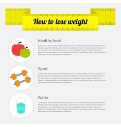 How to lose weight infographic Healthy food sport vector image