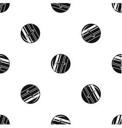 round sewn button pattern seamless black vector image