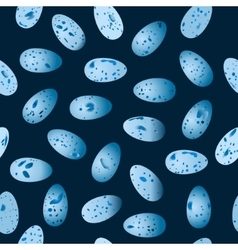 seamless pattern of eggs bird Song Thrush vector image