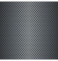 Silver metallic grid background vector image vector image