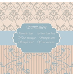 Vintage Invitation with floral ornaments vector image