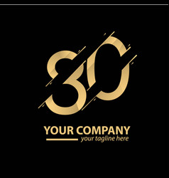 80 year anniversary luxury gold template design vector