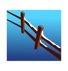 A view of fence vector