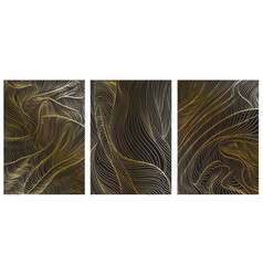 abstract art background with gold gradient line vector image
