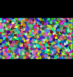 Abstract background of colored pieces vector