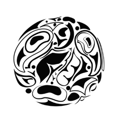 Abstract indigenous ornament vector