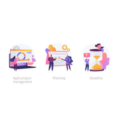 Agile estimating and planning concept vector