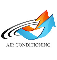 air conditioning heating and cooling arrows symbol vector image