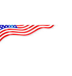 american flag abstract wave banner vector image