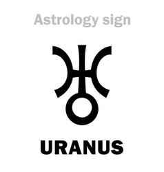 astrology planet uranus vector image