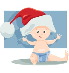 baby boy santa cartoon vector image